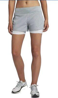 Ladies NIKE  FLEX RUNNING 2 in 1 Shorts size extra large  grey