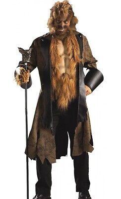 Beauty and the Beast Costume Adult Big Bad Mad Wolf Werewolf - Fast Ship -