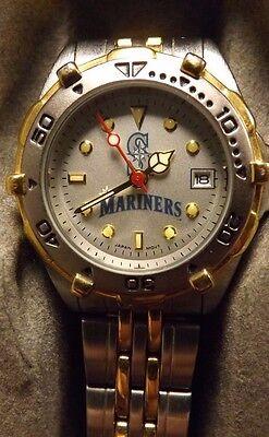 New Seattle Mariners MLB Silver/Gold Tone Women's Dress Watch $99