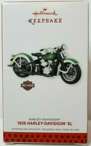 1936 Harley-Davidson EL 2013 Hallmark Keepsake Ornament NIB FREE SHIPPING!