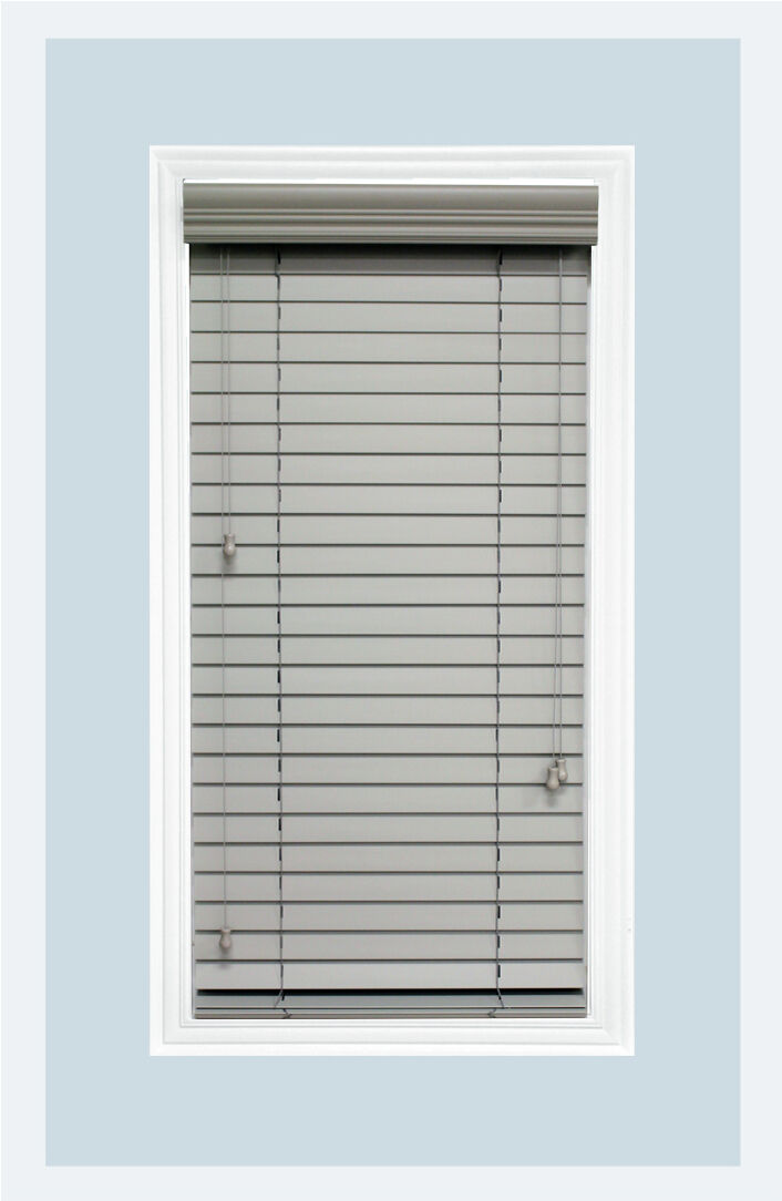 "Custom-Made Rosewood colored, 2"" Real Wood Horizontal Window Blind Inside Mount"