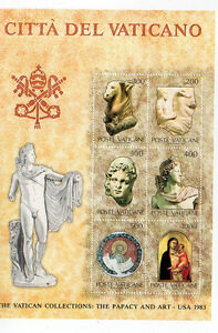 Vatican-1983-Art-Exhibition-Minisheet-MHN