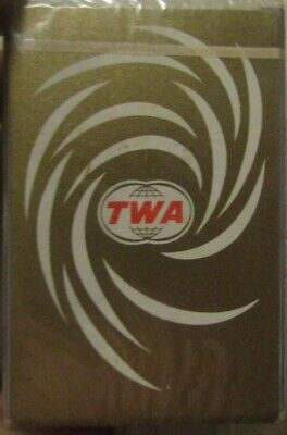 New In Box Vintage Playing Cards TWA Advertising Card Deck Air Lines Fly