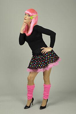 PETTICOAT Unterrock, Spitze Tüll, Satin rosa bunt, 80er - Rosa Clown Kostüme