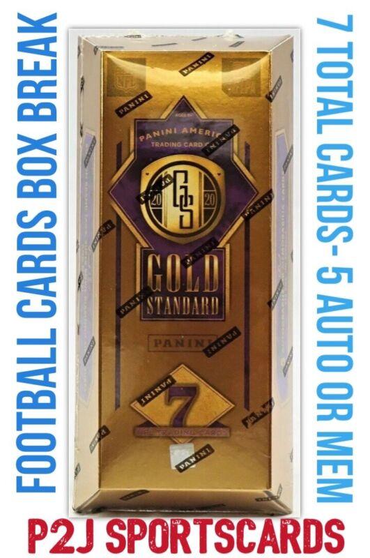 2020 PANINI GOLD STANDARD FOOTBALL CARD HOBBY Box BREAK 1 RANDOM TEAM Break 3873