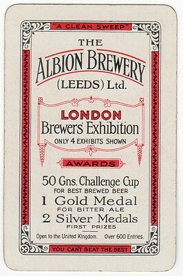 Playing Cards 1 Swap Card Old Vintage ALBION BREWERY Best Brewed Beer BITTER ALE