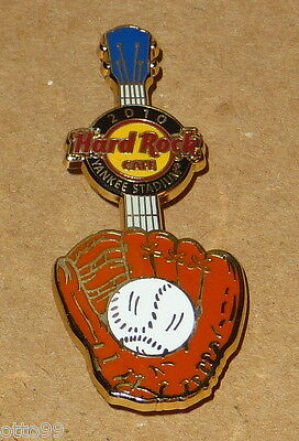 NEW YORK YANKEES HRC BASEBALL GLOVE GUITAR BALL 2010 NYS STADIUM HARD ROCK CAFE