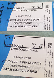 2 tickets Disappointments Safety Bay Rockingham Area Preview
