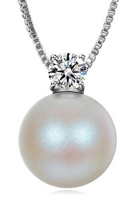 Pearl Pendant Necklaces for Women with AAA Cubic Zirconia Jewellery