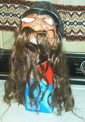 2000 DON POST VIKING MINNESOTA VIKINGS MASK HALLOWEEN COSTUME FACE HEAD