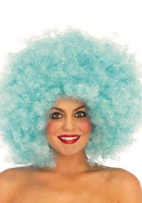 LAG Leg Avenue LO2816 Perücke afro Locken Karneval clown 70s Lockenperücke Blau