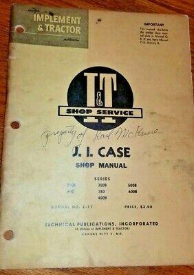 Ji Case Model 770 870 970 1070 1090 1170 Shop Manual