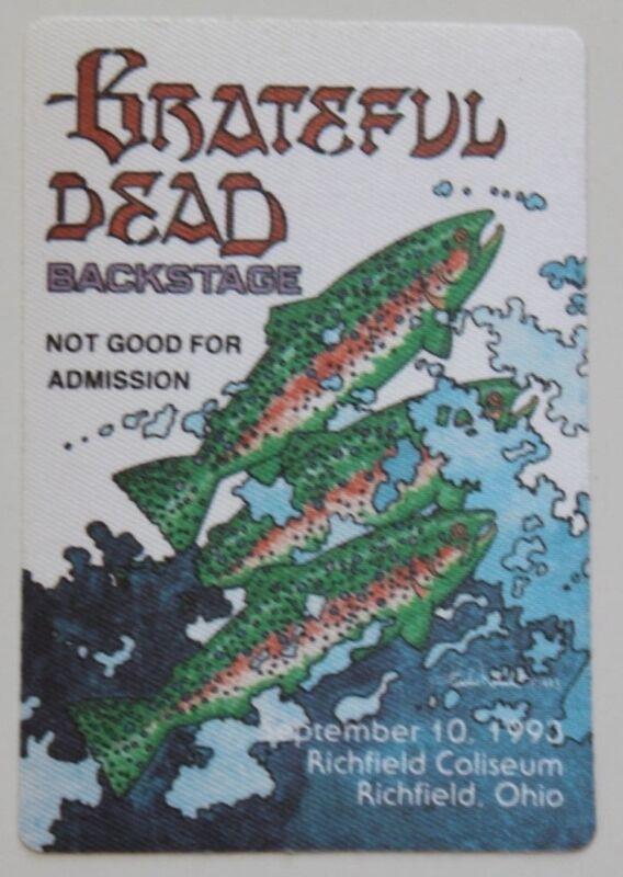 Grateful Dead Backstage Pass 9-10-93 Richfield Coliseum Richfield Ohio