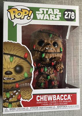Funko Pop! Star Wars Chewbacca #278 Christmas Lights Bobblehead NIB