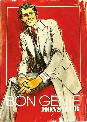 Original vintage poster BON GENIE SWISS MENS FASHION 1975