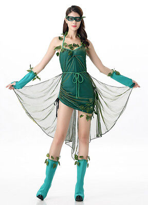 Simile Poison Ivy Costume Carnevale Vestito Donna Woman Cosplay Dress POISVY01