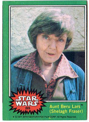 1977 TOPPS STAR WARS # 225 SERIES 4 TRADING CARD Aunt Beru Lars Shelagh Fraser