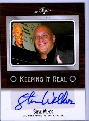 STEVE WILKOS LEAF POP CENTURY AUTO JERRY SPRINGER COP AUTOGRAPH KEEPING IT REAL on Rummage