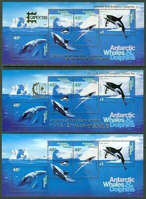 EDW1949SELL : AUSTRALIA ANTARCTICA 1995 Scott #97a, b & c VF, Mint NH. Cat $112.