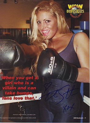 WWE WWF TRISH STRATUS SEXY AUTOGRAPHED HAND SIGNED 8X10 PHOTO WRESTLING PICTURE