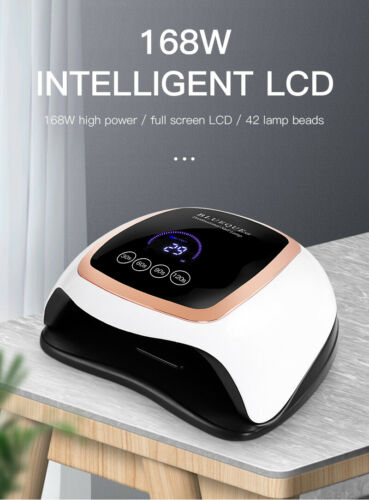 168W Professional Nail Polish Dryer Timer UV LED Lamp Acrylic Gel Curing Light