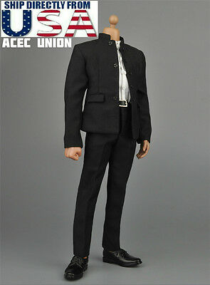 Bruce Lee Costume Kids (1/6 Bruce Lee Kung Fu Suit Chinese Style Costume A For HotToys TTM18 TTM21)