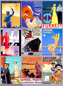 Poster of vintage cruise ship promotions mounted on board & frame Heidelberg Banyule Area Preview