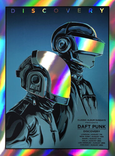 DAFT PUNK Discovery Print Poster (RAINBOW FOIL EDITION) by Tim Doyle