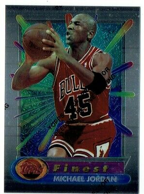 1994-95 Topps Finest Michael Jordan #331 Bright Color Sharp Corners! With Peel