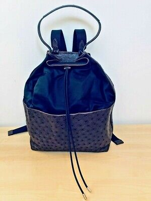 The Row Magnificent Brown Ostrich and Black Nylon designer Backpack - never (The Row Designer)