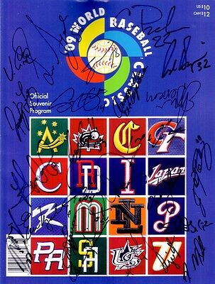 2009 Mexico team signed auto World Baseball Classic program Adrian Gonzalez +24