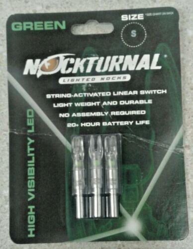 Nockturnal Green Lighted Nocks High Visibility LED