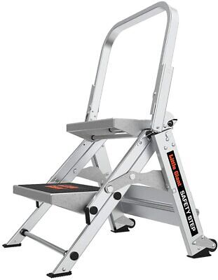 Little Giant Ladders 2-step Aluminum Safety Step Stool With 300 Lb Load Capacity