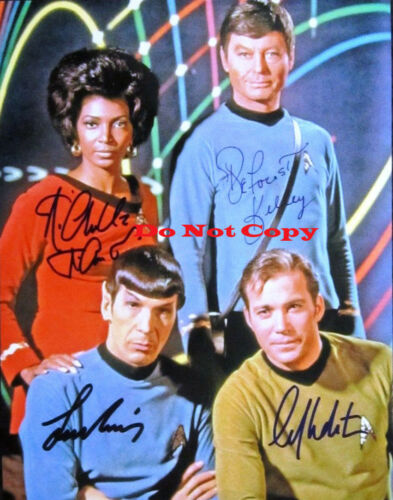 William Shatner Leonard Nimoy Deforest Kelley Autographed Signed 8x10 Photograph