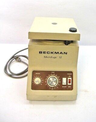 Complete Beckman Microfuge 12 Benchtop Microcentrifuge Centrifuge W Rotor