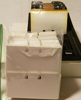 Vintage Bates Rolodex Business Card File System With Index Open Tray Refills
