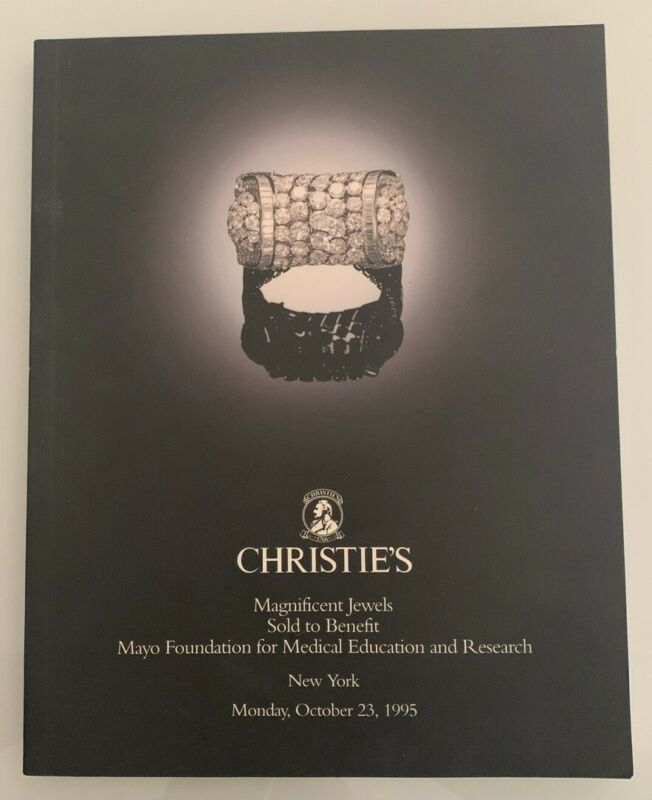 Auction Catalog: Christie's Magnificent Jewels Sold to Benefit New York 1995
