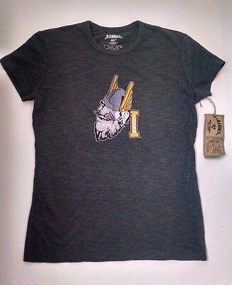 Idaho Vandals Womens T Shirt Banner 47 M Charcoal Gray Burnout New