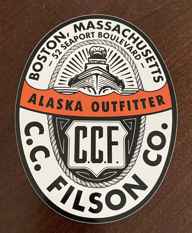 NEW C C Filson CCF Alaska Outfitter Decal Sticker Boston Massachusetts Seaport