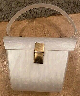 Vintage Hard Plastic Handbag Pearlescent Finish