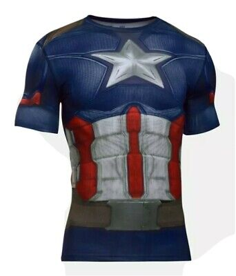 Under Armour Alter Ego Captain America Compression Shirt Size XL 1273691 410