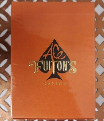 Ace Fulton's Casino Vintage Little Tokyo Orange Playing Cards New & Sealed...