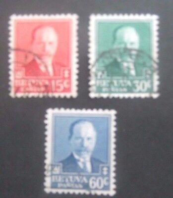Lithuania-1934-Presidents Birthday set-Used