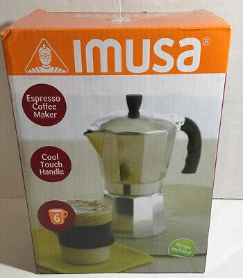 Imusa Aluminum Coffee Maker 6 Cups Esspresso, Tea, New