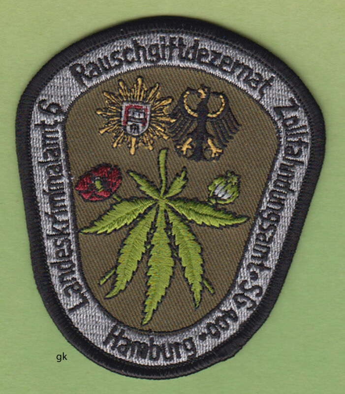 HAMBURG GERMANY POLICE DRUG TASK FORCE PATCH MARIJUANA