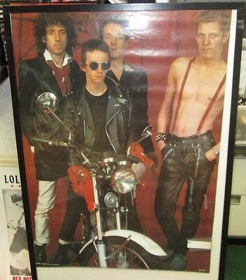 CLASH POSTER LIVE NEW NEVER OPENED LATE 80'S VINTAGE  JOE STRUMMER