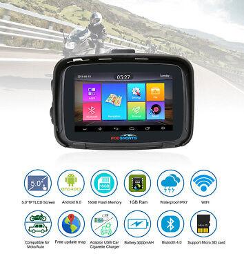 """Bluetooth Navigation 5"""" Android 6.0 Wifi Moto Voiture BT GPS 16G SAT NAV EU Maps"""
