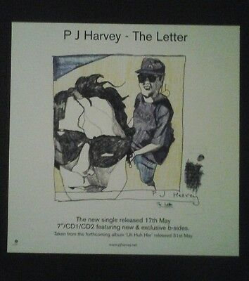 P J Harvey - The Letter - 2 Sided Uk Poster Display Promo Flat Rare