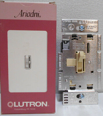 Lutron AYLV-600P-IV Ariadni 600VA Single Pole Magnetic Low Voltage Dimmer Switch 600va Magnetic Low Voltage Dimmer