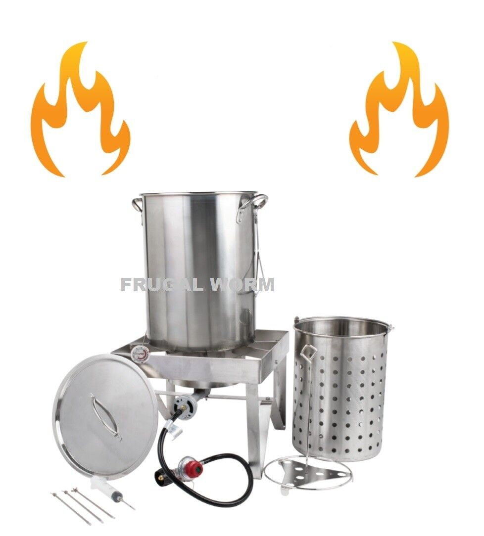 Backyard Pro 30 Qt. STAINLESS STEEL Turkey Deep Fryer Kit St